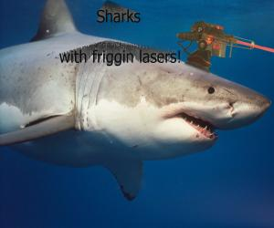 Sharks with lasers on their heads